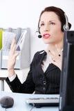 Call center woman Stock Photo