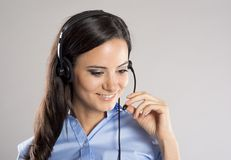 Call center woman Royalty Free Stock Photos