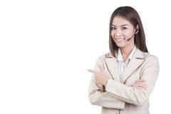 Call center woman customer service operator Royalty Free Stock Photos