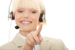 Call center woman with headset Royalty Free Stock Photos