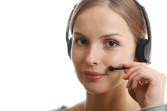 Call Center Woman Royalty Free Stock Images