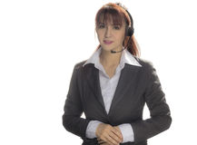 Call center woman, smiling business woman, customer Service Agen Royalty Free Stock Image