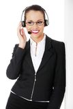 Call center woman Royalty Free Stock Image