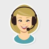 Call center. Woman Stock Photo