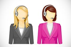 Call Center Woman. Vector illustration of call center woman icon Royalty Free Stock Photography