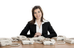 Call center work Royalty Free Stock Images