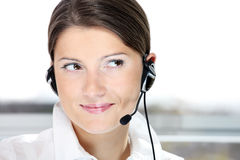 Call center worker Royalty Free Stock Photos