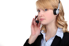 Call center worker Royalty Free Stock Photography