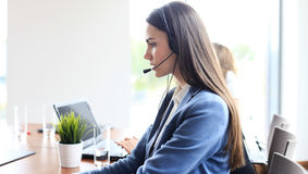 Call center worker Stock Images