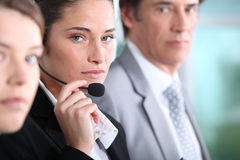 Call center workers Royalty Free Stock Photo