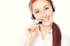 Call center workers wearing headsets Royalty Free Stock Photos