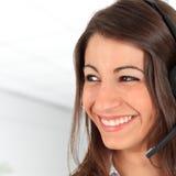 call centeranställd Royaltyfri Fotografi