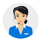 call centerkvinnligoperatör royaltyfri illustrationer