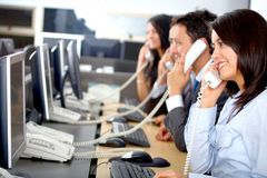 Call centre Stock Foto's