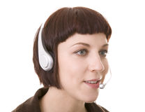 Call Centre. Operator, or telephonist Stock Photo