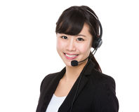 Call centre agent Stock Image