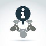 """Call centre conceptuele dienst van het pictogram†de """"overleg, informatio Stock Foto's"""