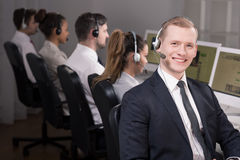 Call centre consultant Royalty Free Stock Images