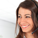 Call centre employee Royalty Free Stock Photography