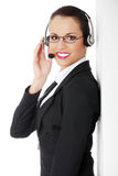Call centre employee Royalty Free Stock Images