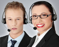 Call centre employee Royalty Free Stock Photo