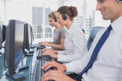 Call centre employees at work Royalty Free Stock Photo