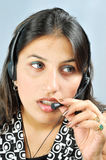 Call Centre Executive Royalty Free Stock Photos