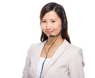 Call centre executive Stock Photography