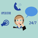 Call centre lady Stock Photo