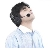 Call centre male executive Royalty Free Stock Images
