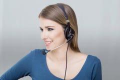 Call centre operater royalty-vrije stock foto