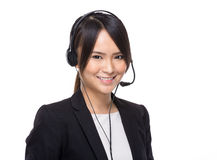 Call centre operator Royalty Free Stock Photo