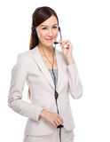 Call centre operator Royalty Free Stock Image