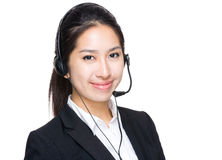 Call centre operator Stock Images