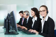 Call centre operators Stock Images
