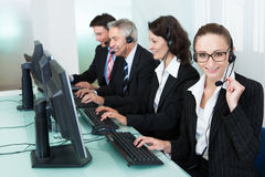 Call centre operators Stock Photos