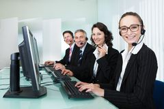 Call centre operators Stock Photo