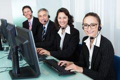 Call centre operators Royalty Free Stock Photos
