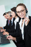 Call centre operators Royalty Free Stock Photography