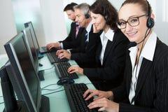 Call centre operators Stock Photo