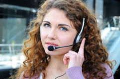 Call centre Royalty Free Stock Photo