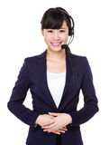 Call centre representative. Isolated on white background Stock Images