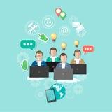 Call centre, 24 uren, technische ondersteuning Stock Afbeelding