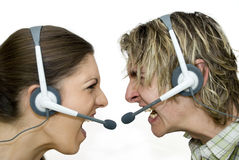 Call Centre Wars Royalty Free Stock Photos