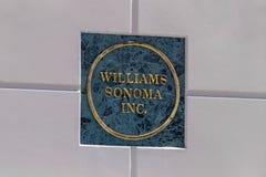 Call centre Williams-Sonoma Williams-Sonoma is beroemd voor hun huis en keukenmeubilair voor de betere inkomstklasse I stock foto