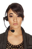 Call centre woman Royalty Free Stock Image