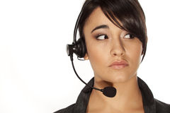 Call centre woman Stock Photo