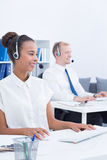 Call centre workers Royalty Free Stock Photos