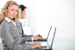 Call centre workers Royalty Free Stock Images