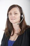 Call centreagent Stock Foto